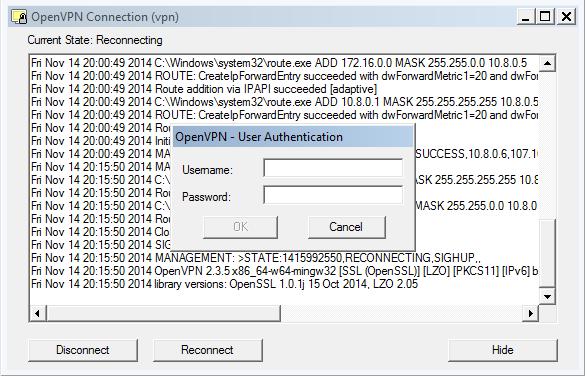 OpenVPN GUI