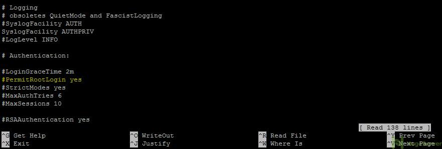 permit root login centos 7